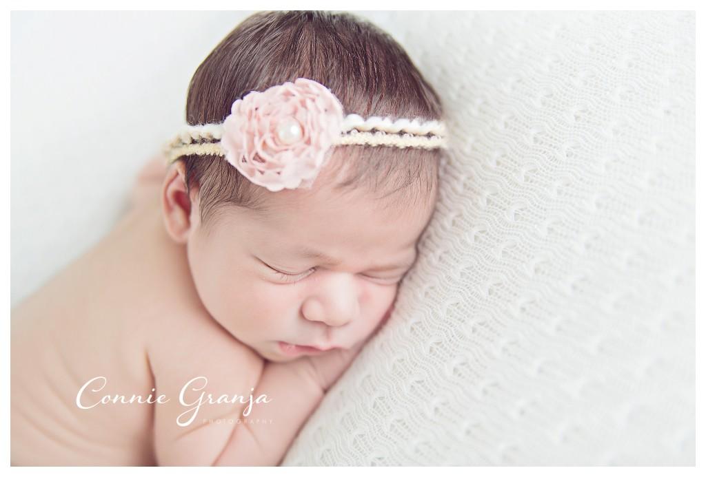 Cream themed baby girl newborn session - Boca Raton Newborn Photographer Connie Granja Photography