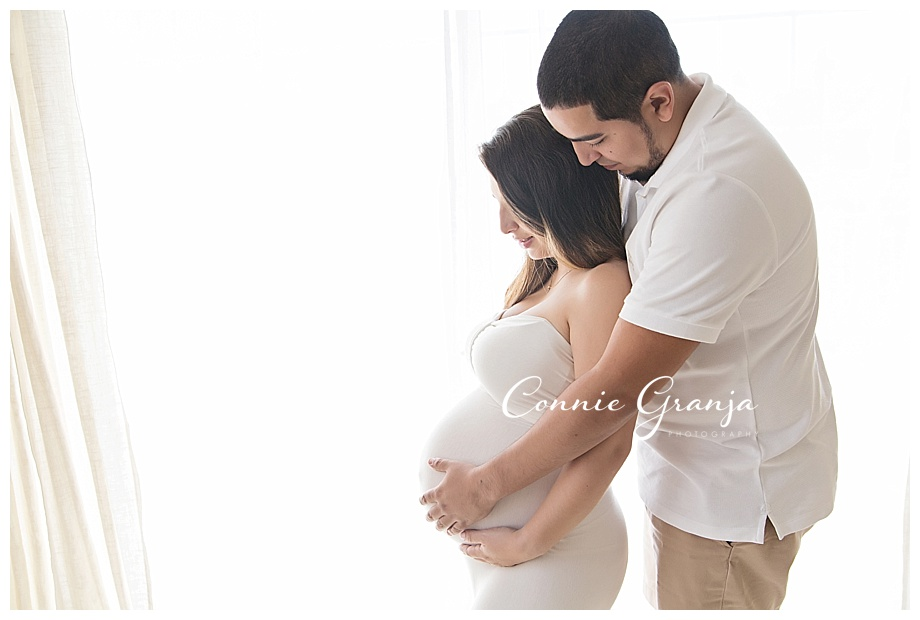 Light and Airy In-Studio Maternity Session - The Maternity Goddess - Boca Raton, Florida Maternity Photographer Connie Granja Photography