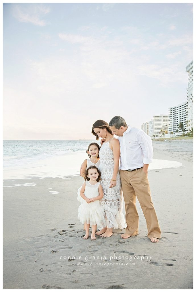 Along the shore - Betancur Family Session at the beach - Boca Raton, Florida Family Photographer Connie Granja Photography - www.conniegranja.com